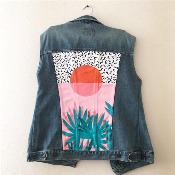 jaqueta personalizada com tecido