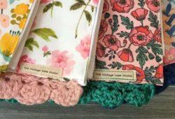 toalhas coloridas croche