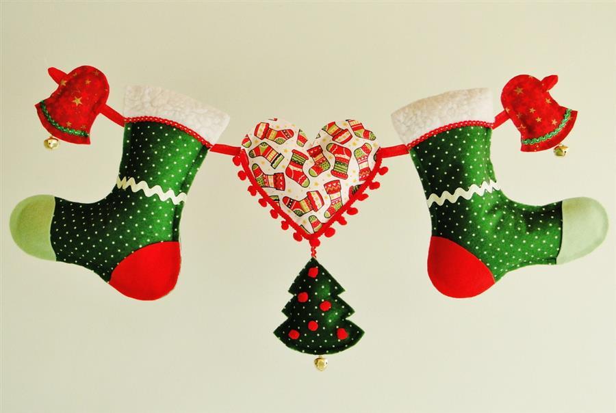 Varal de Natal com bota