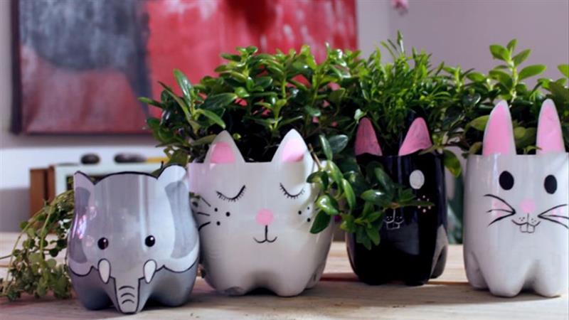 vasos decorativos de bichinhos