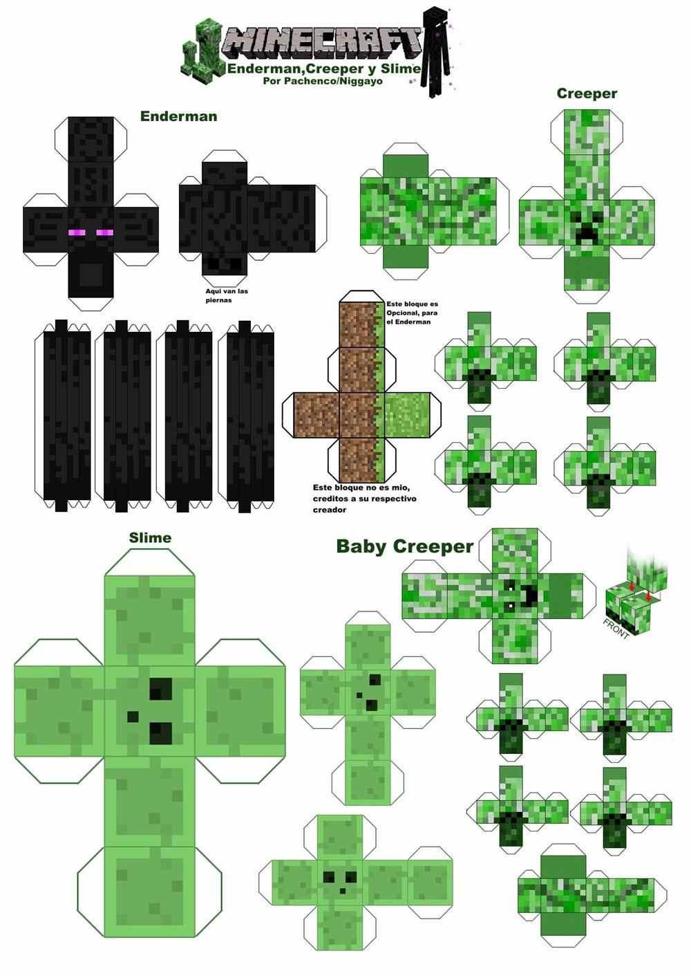 Papercraft minecraft moldes