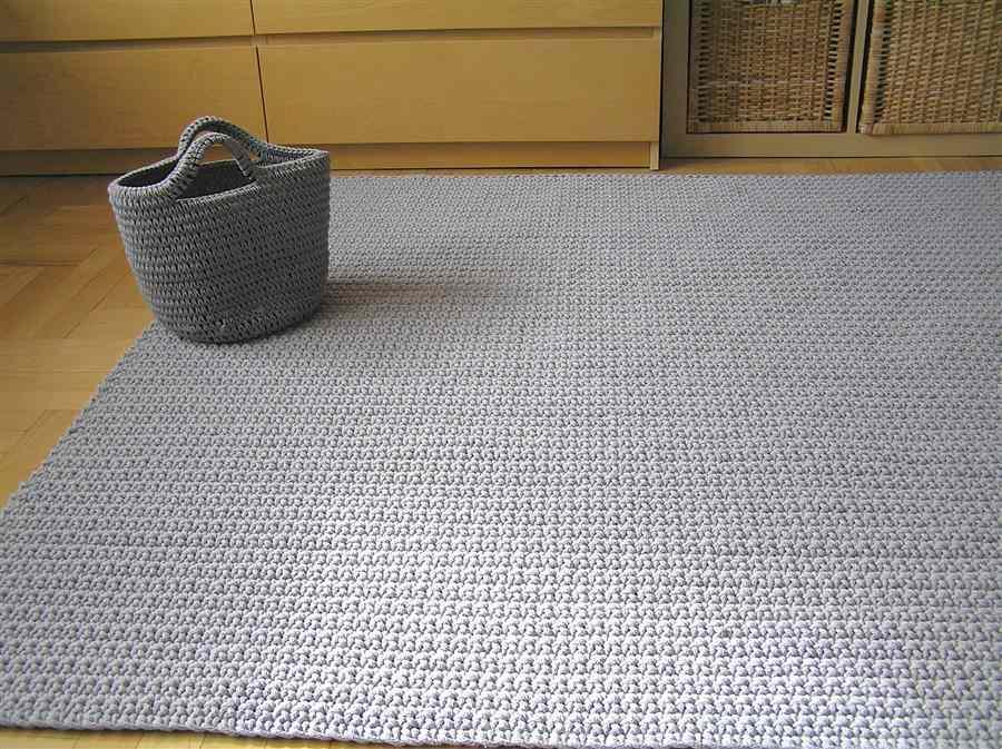 Tapete de crochê quadrado para quarto