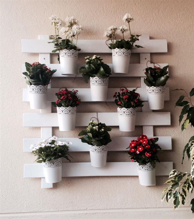 decoração com paletes na parede