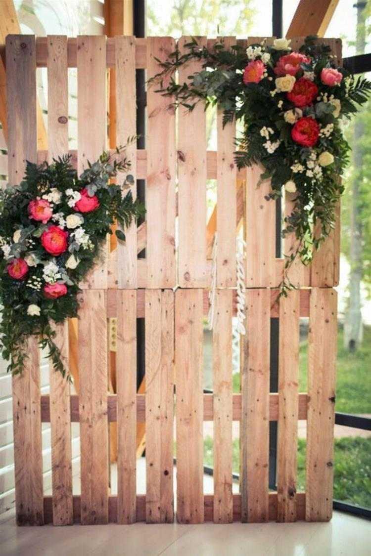decoração vertical com paletes
