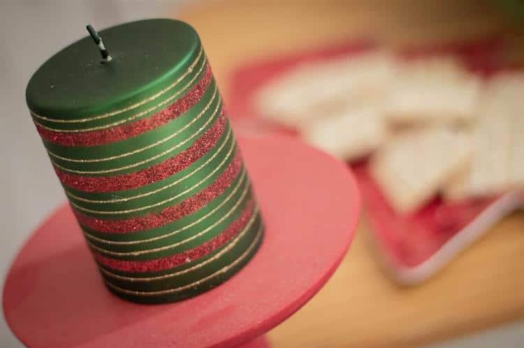 Vela de Natal artesanal