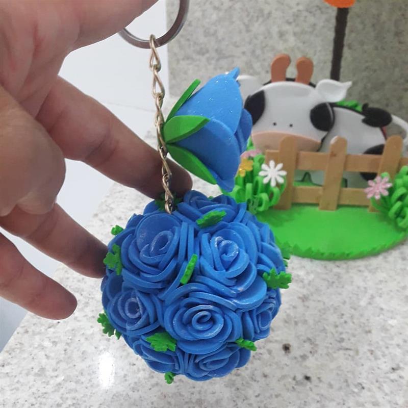 Chaveiro com flores