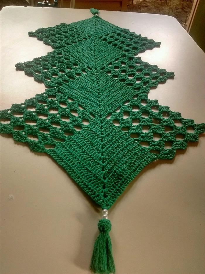 verde bandeira com pingentes