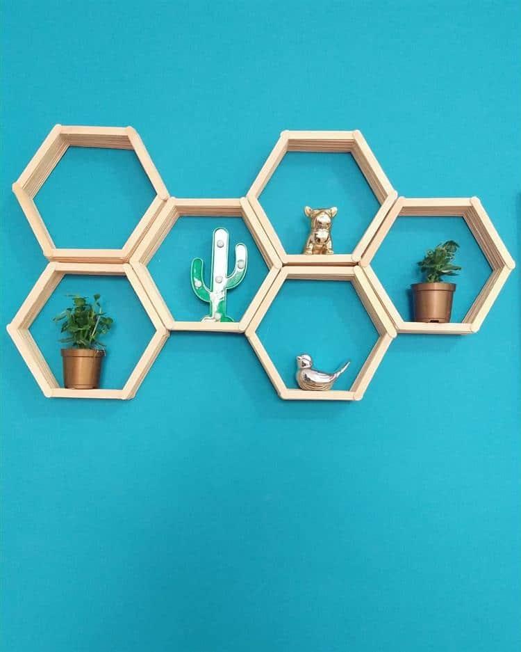 decoração de parede com nichos