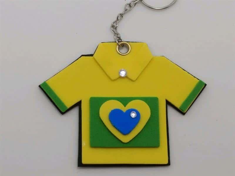camisa da Copa do Mundo do Brasil