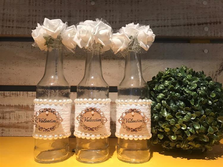 como fazer garrafas decoradas