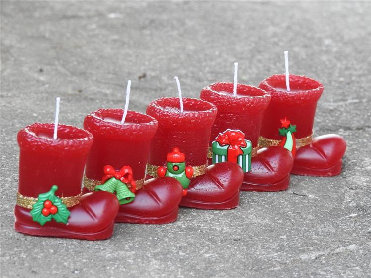 Vela de Natal em formato de botinha