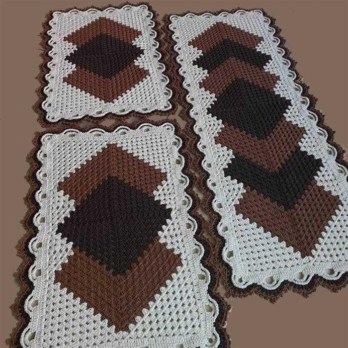 tapete de barbante para cozinha colorido