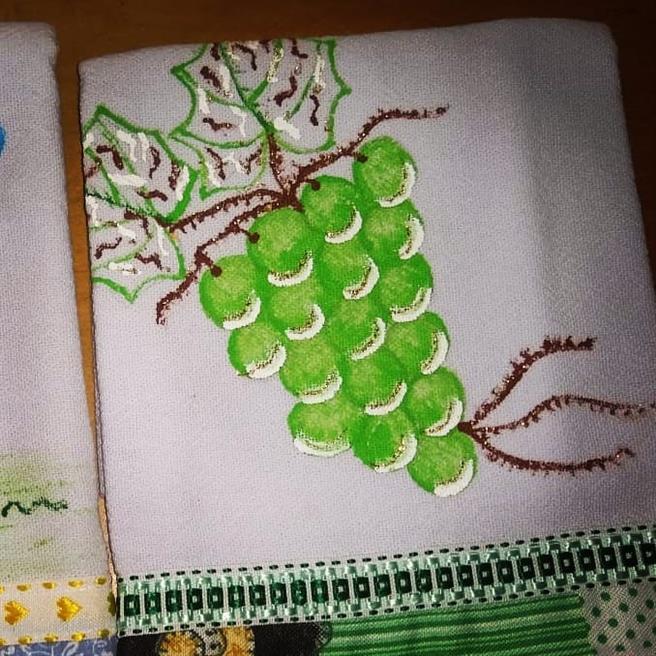 desenho de pinturas para pano de prato