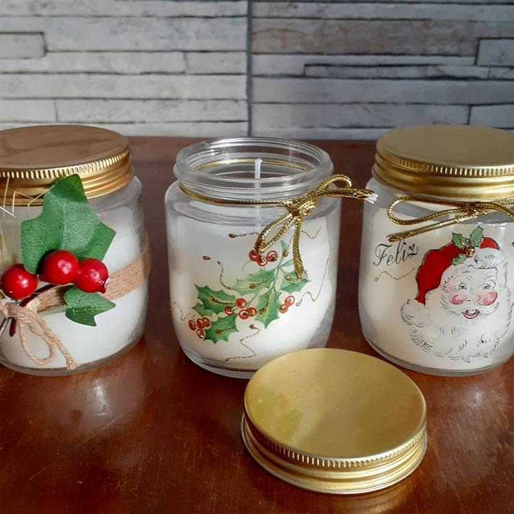 velas aromáticas de Natal