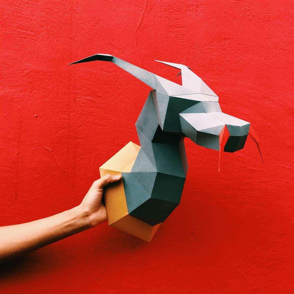 papercraft dragao