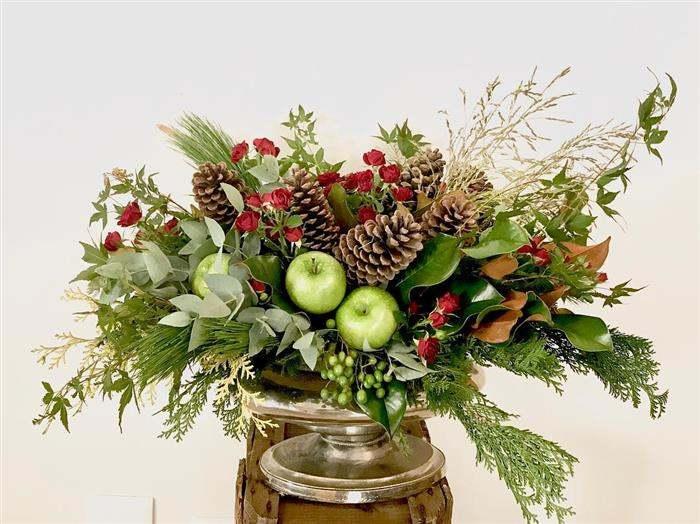 enfeitar mesa de natal com frutas