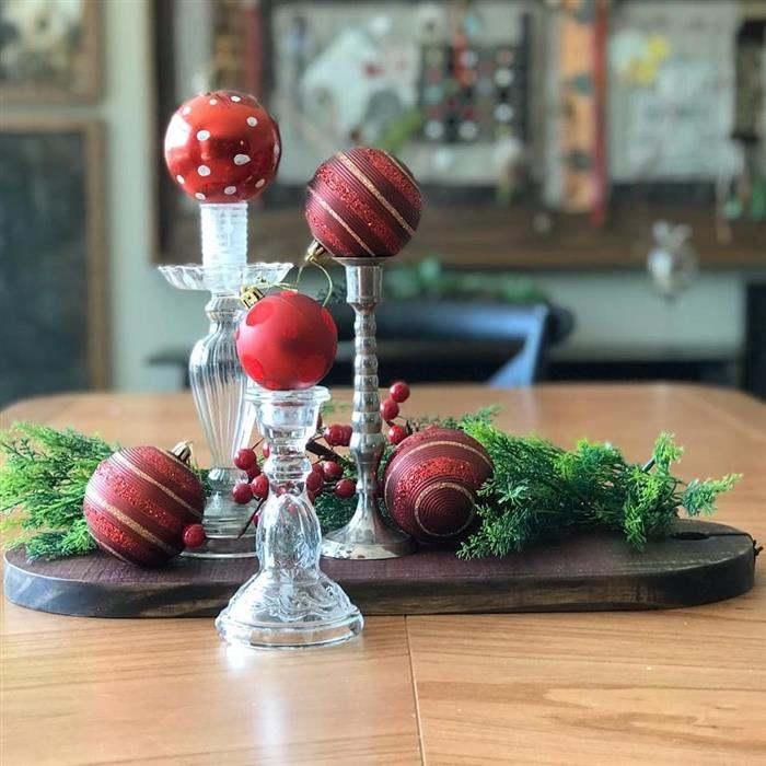 enfeitar mesa de natal simples