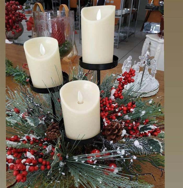 enfeite de natal com velas