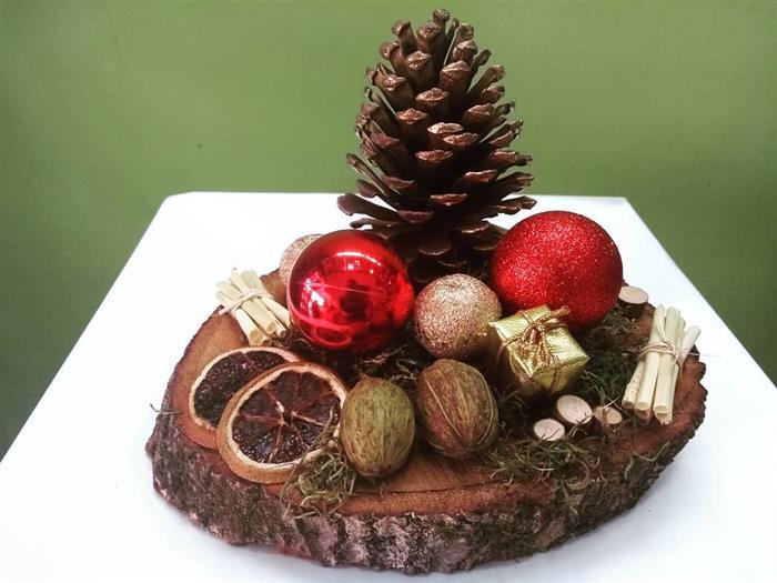 enfeite de natal madeira