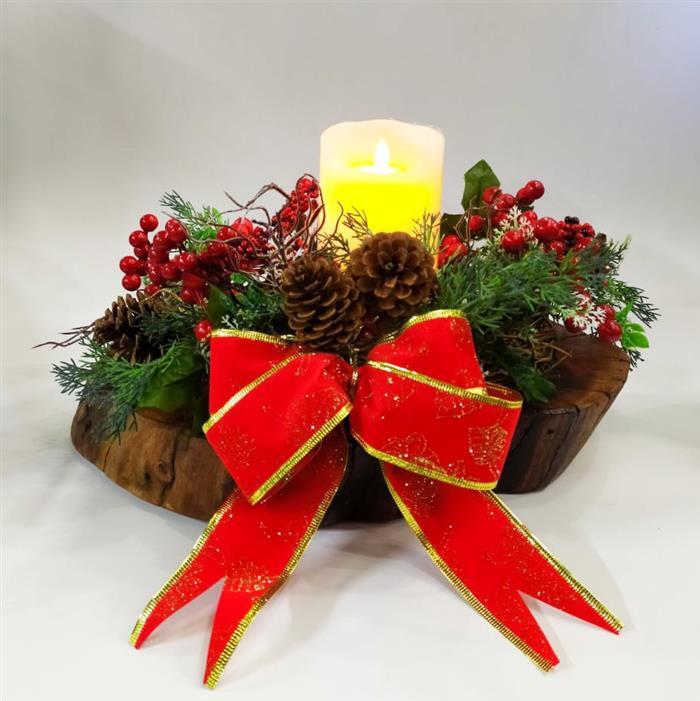 enfeite de natal mesa