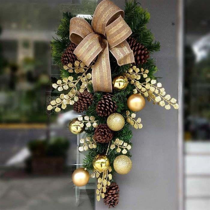 enfeite de natal para a porta