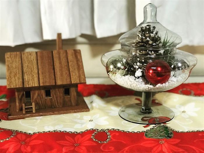 enfeite mesa de natal