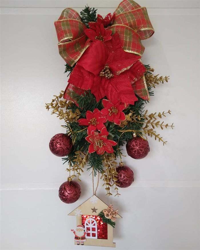 enfeite natalino com casinha