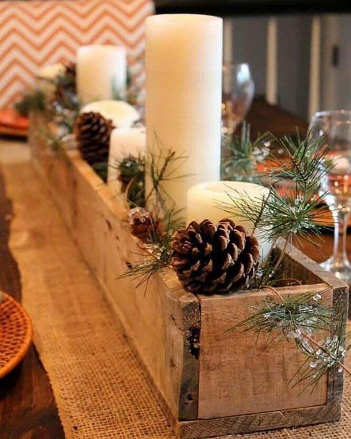 enfeite natalino com madeira rustica