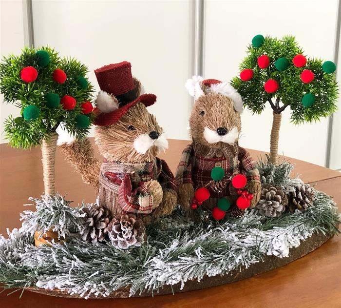 enfeite natalino com ursos