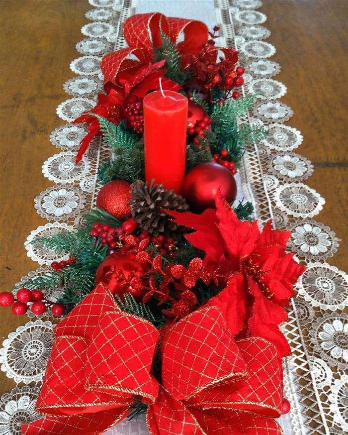 enfeite de natal para decorar mesa