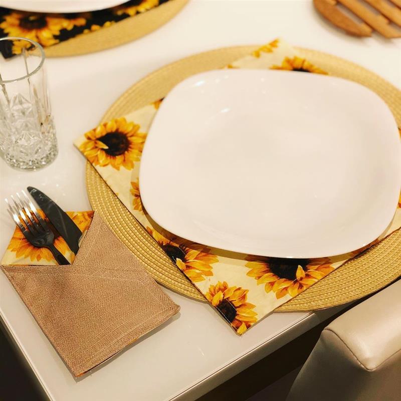 Porta talher de tecido para mesa