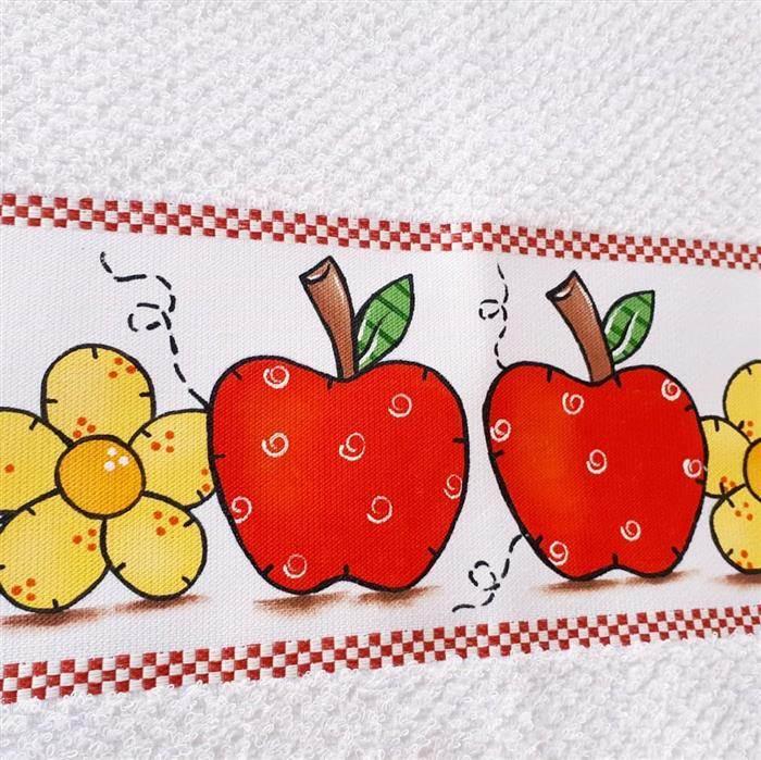 frutas em pano de prato