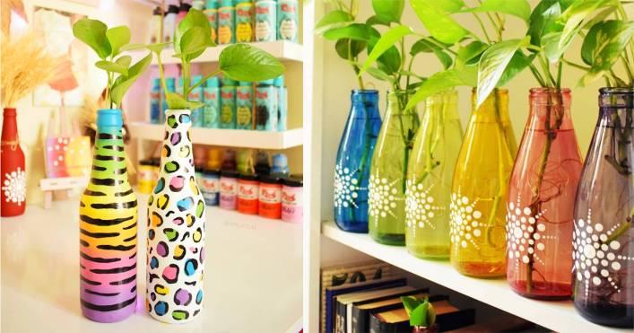 garrafas coloridas