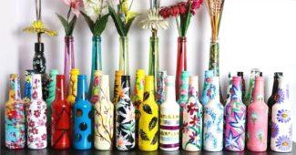 garrafas de vidro coloridas