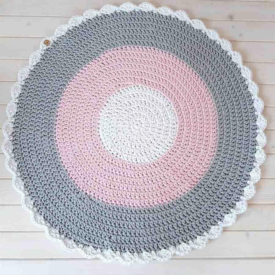 Como fazer tapete de crochê para quarto infantil