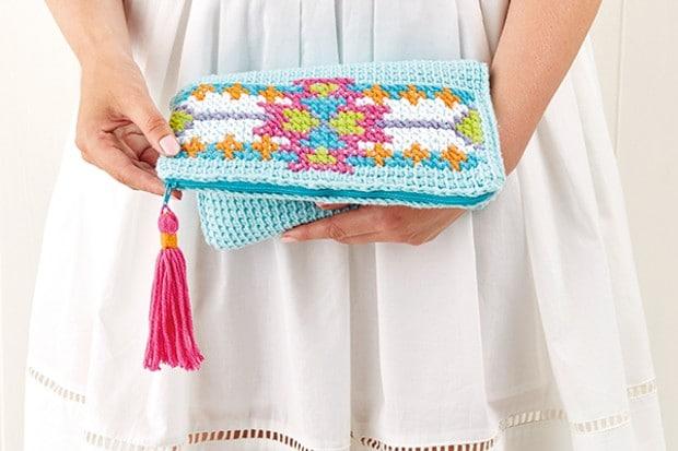como fazer croche tunisiano