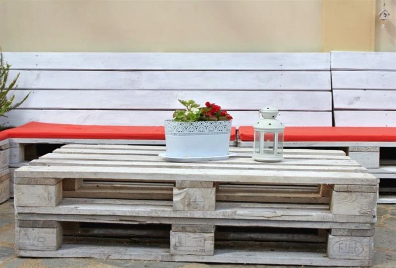 mesa de centro de pallet simples