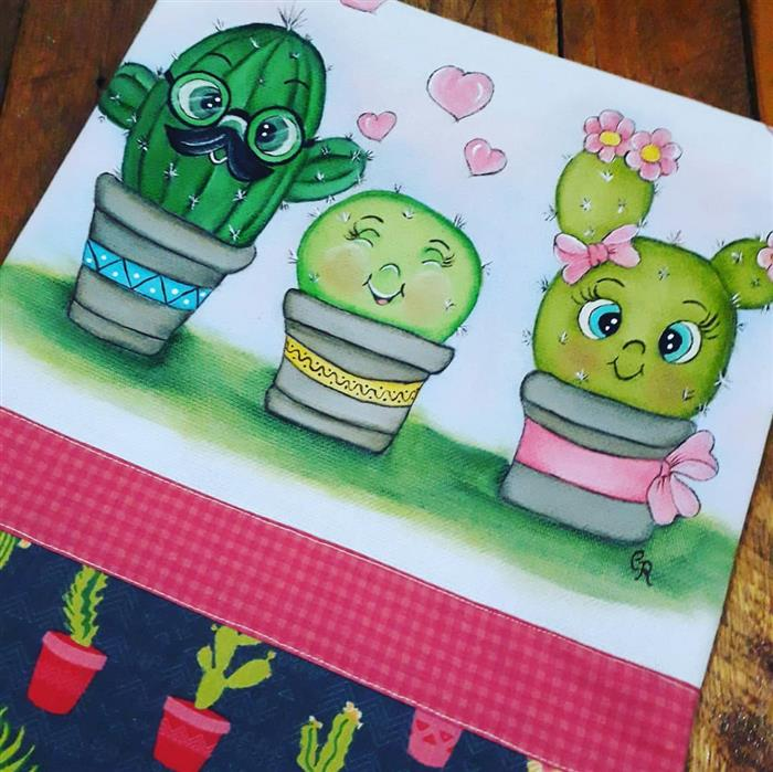 imagens de pintura para pano de prato