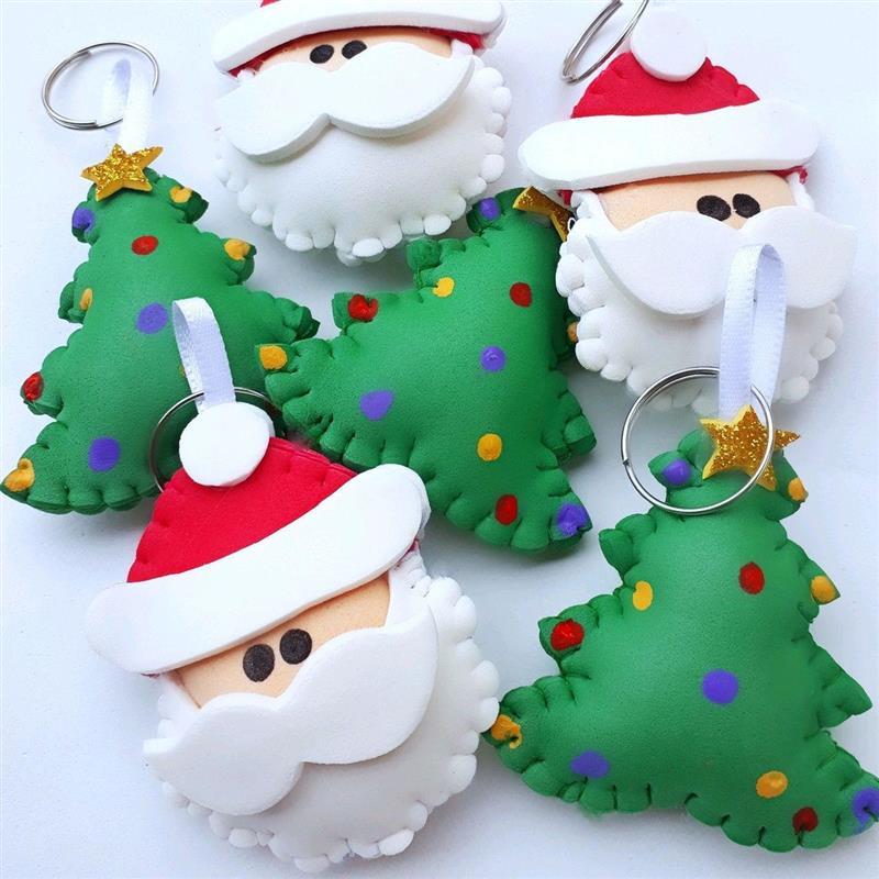 Chaveiro de EVA para o Natal