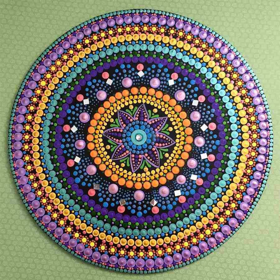 mandala de mdf decorada