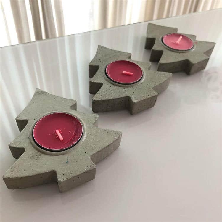 Suporte para velas de cimento