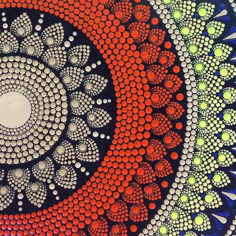 mandala pontilhismo colorida