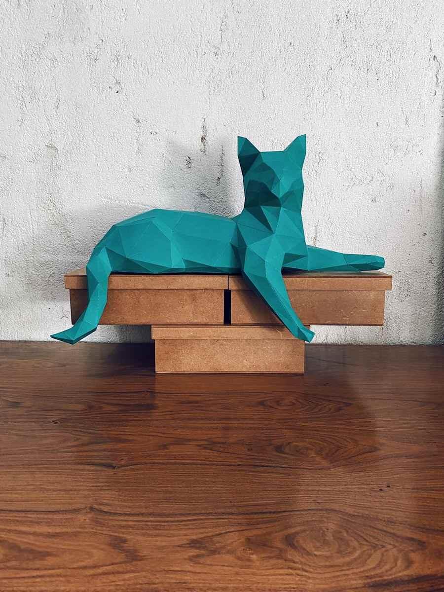 papercraft gato