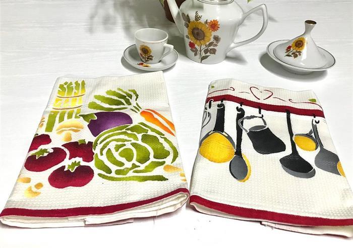 pintura e pano de prato