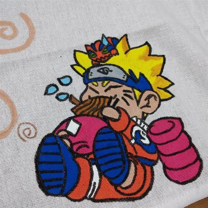 pintura em panos de prato tecido