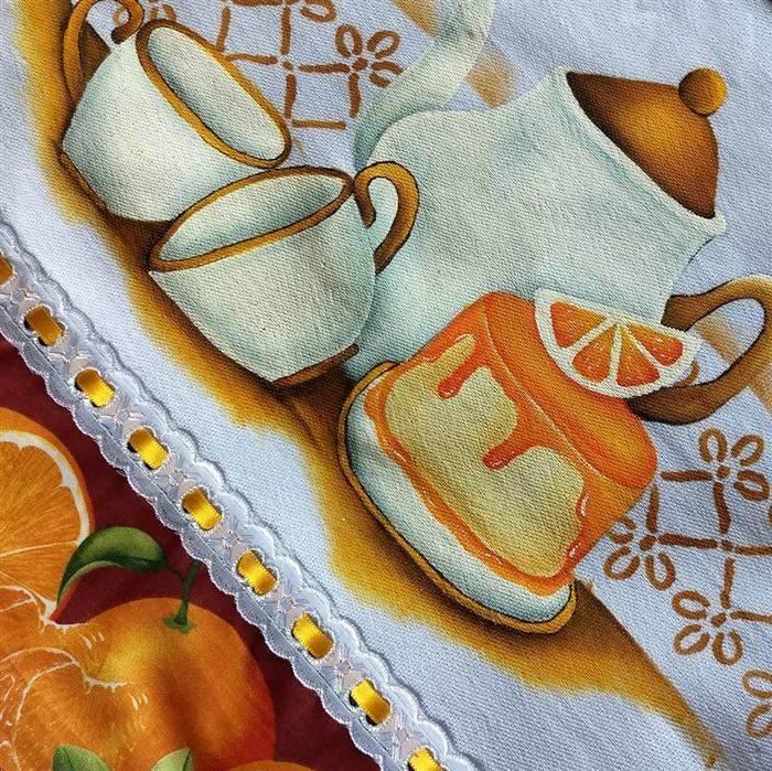 pinturas panos de prato