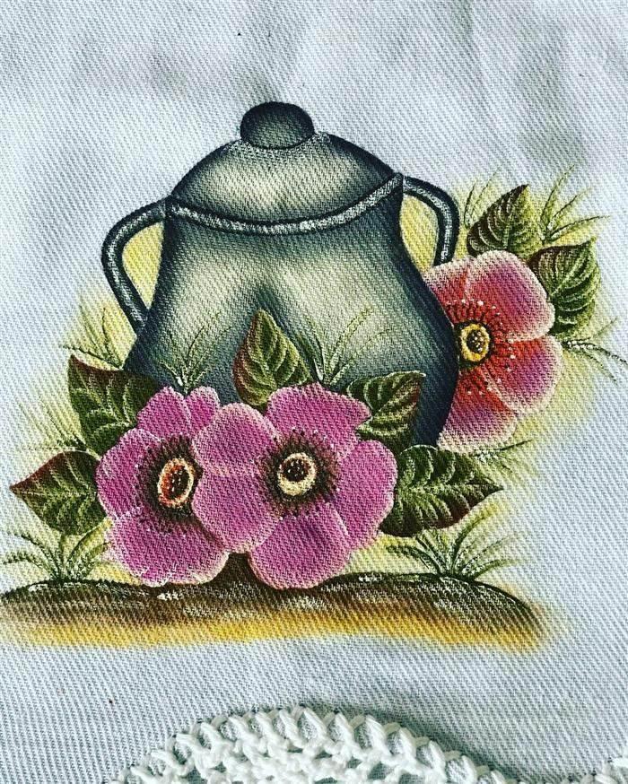 pinturas para panos de pratos