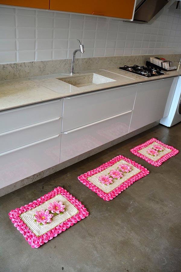como fazer tapetes de barbante para cozinha