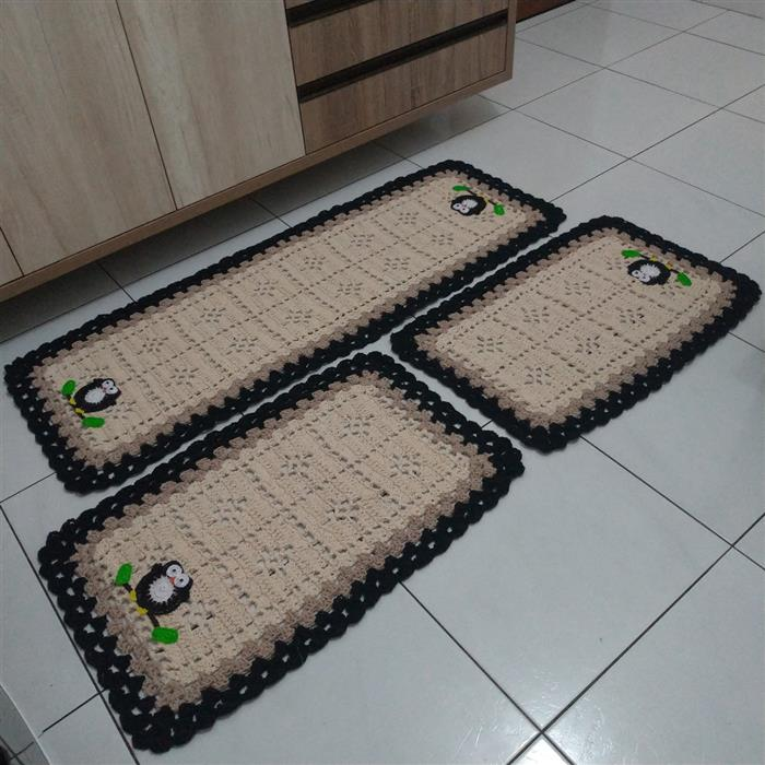 amostra de tapete de barbante para cozinha