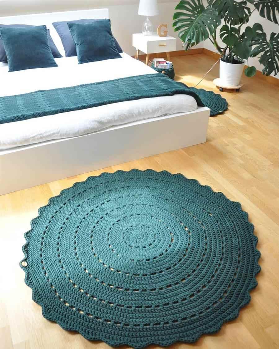 decorar com tapete de crochê